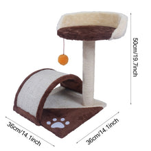 "Load image into Gallery viewer, 【US Warehouse】M51 28"" Stable Cute Sisal Cat Climb Holder Cat Tower Lamb Pink USA Free shipping"