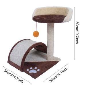 "【US Warehouse】M51 28"" Stable Cute Sisal Cat Climb Holder Cat Tower Lamb Pink USA Free shipping"