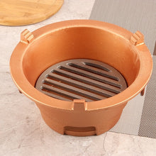 Load image into Gallery viewer, Cast iron charcoal carbon barbecue stove alcohol BBQ oven roast meat seafood Japanese Korean health grill wooden tray set