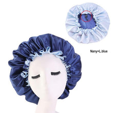Load image into Gallery viewer, Women Night Sleep Cap Satin Elastic Bonnet Hat For Hair Care Head Cover Adjust Hair Loss Hat Beanies Skullies Islamic New