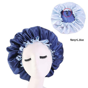 Women Night Sleep Cap Satin Elastic Bonnet Hat For Hair Care Head Cover Adjust Hair Loss Hat Beanies Skullies Islamic New