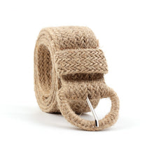 Load image into Gallery viewer, Khaki Bohemian Style Woven Belt RAINIE SEAN Braided Belt for Casual Women