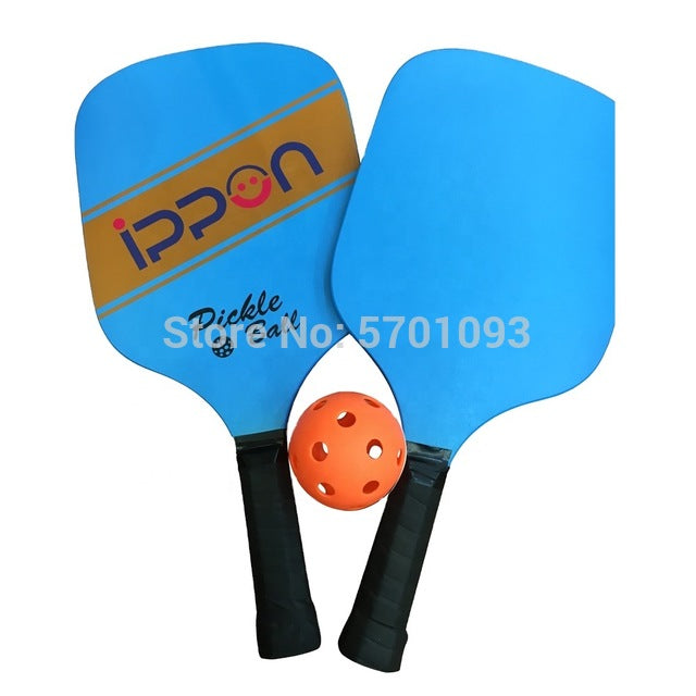 beach tennis set Pickleball Paddle Set Includes Two Square Wood Paddles With One Pickleball