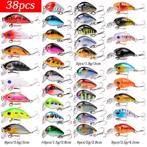 Almighty Mixed Fishing Lure Kits  Wobbler Crankbaits Swimbait Minnow Hard Baits Spiners Carp Bait Set Fishing Tackle