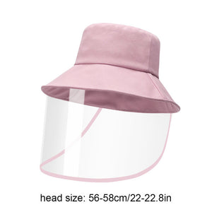 Casual Fisherman Hat Sun Cap Unisex Summer Hats Detachable With Transparent Shield Screen Outdoor Women Men Fashion Caps