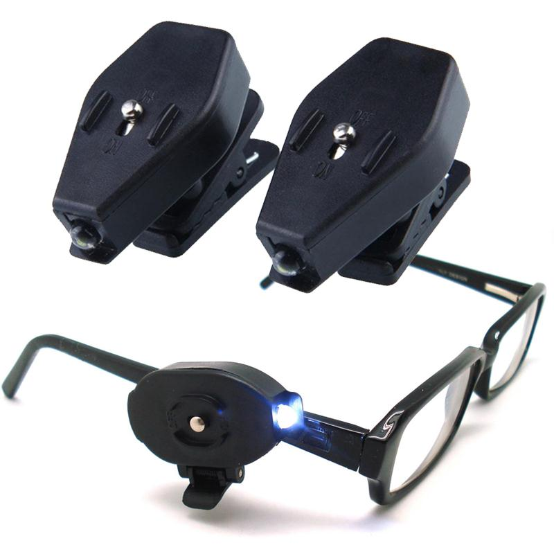 1pcs Mini Clip-on Grip Clamp LED Light Rotate For Reading Light Glasses White Bright Reading [Products Home Improvement