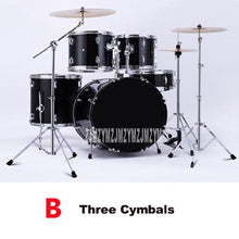 Load image into Gallery viewer, Music Percussion Instruments Five Drums Adult Children Beginners Acoustic Drum Kit 3/4 Cymbals Jazz Drum/Drum Kit Set