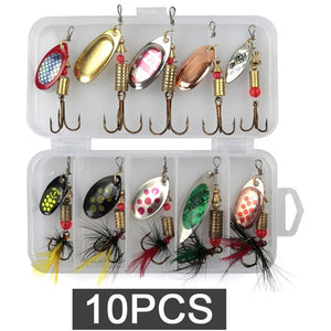 LUSHAZER fishing Metal spinner set 3g-7g Spoon Hard Bait Artificial Bait Metal Fishing Lure Bass sequins spinner for bass carp