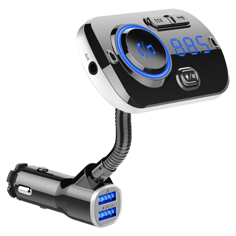 Wireless FM Radio Adapter Car Kit Hands-Free Dual USB Ports 2019 Bluetooth 5.0 FM Transmitter for Car