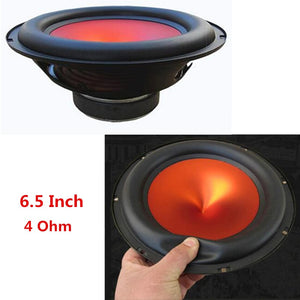 6.5 Inch 4 Ohm 400W V-shaped Red Funnel Cone Thick Rubber Edge Car Audio Speaker Modified High Power Subwoofer Auto Home Speaker