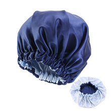 Load image into Gallery viewer, Extra Large Satin Lined Bonnet Women Big Size Beauty Print Satin Silk Bonnet Sleep Night Cap Head Cover Bonnet Hat Wholesale