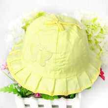Load image into Gallery viewer, 1PC Baby Hat Girl Magic Reversible Bucket Cap for 3 to 12 Months Infant Kids Girls Toddler Sun Hats Summer Flower Bow-knot Style