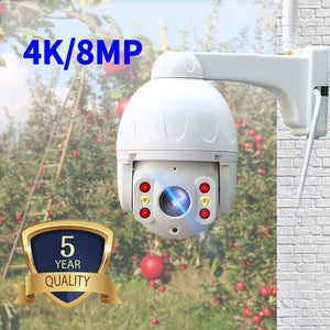 N_eye ip camera 8MP 4K HD outdoor waterproof Camera with color night vision PTZ Security wifi smart security camera 360° camera