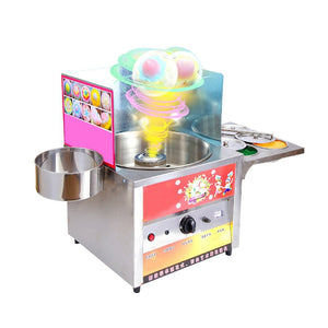 Commercial fancy gas cotton candy maker DIY sweet Candy sugar floss machine stainless steel snack equipments stalls flower