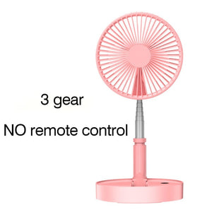 Telescopic Fan Portable Mini Air Cooler Fan With Remote Control Timing