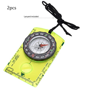 2Pcs Gear Professional Boy Scout Compass Orienteering Cross-country Hiking Camping for Map Reading and Navigation Multi-function