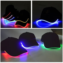 Load image into Gallery viewer, LED Light Up Baseball Caps Glowing Adjustable Hats Perfect for Party Hip-hop Running and More