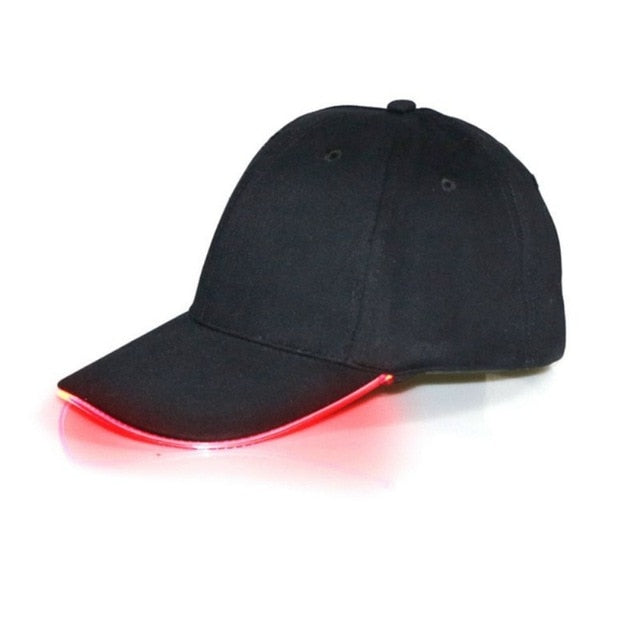 LED Light Up Baseball Caps Glowing Adjustable Hats Perfect for Party Hip-hop Running and More