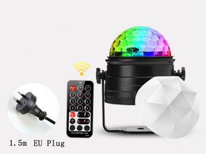 Light Stage Lights DJ Disco Ball 6W bluetooth Voice Control LED Magic Ball Stage Lamp Colorful Disco with Remote Controller