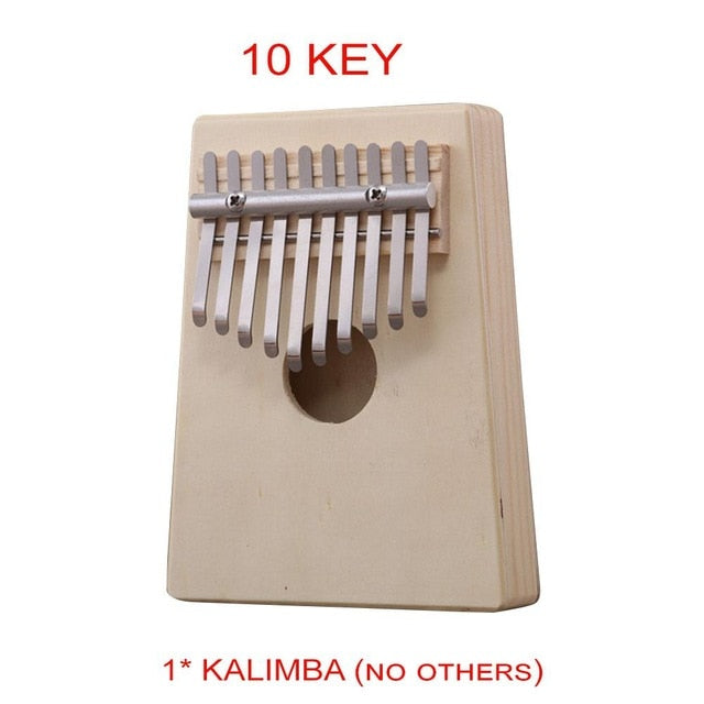 Mounchain 10-key Kalimba Thumb Piano Kids Adults Music Finger Percussion Keyboard
