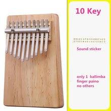 Load image into Gallery viewer, Mounchain 10-key Kalimba Thumb Piano Kids Adults Music Finger Percussion Keyboard