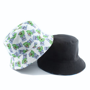 Cookie Hat Reversible Cartoon Bucket Hats For Women Men Street Hip Hop Bucket Cap Vintage Printed Fishing Hat