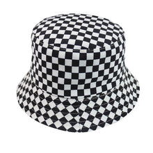 Load image into Gallery viewer, Moo Print Reversible Black White Cow Pattern Bucket Hats Fisherman Caps For Women Summer