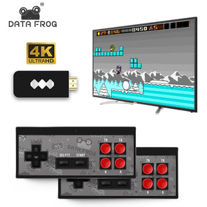 Mini 4K video game console double and retro players build in real 568 classic games wireless controller hdmi / av output