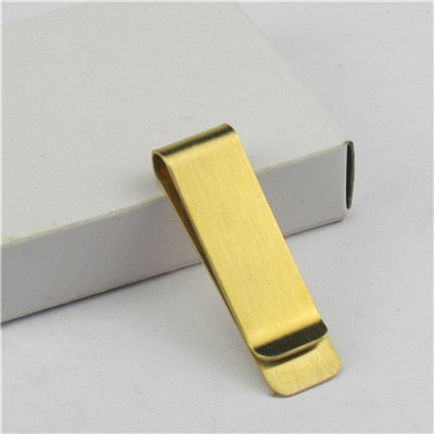 High quality metal men's wallet clip gold money clip retro thick brass fashion simple men's metal banknote clip wallet PJ001