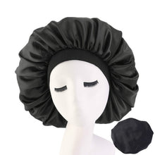Load image into Gallery viewer, Large Silk Sleeping Hat Lady Elastic Wide Side Satin Printed Night Cap Hair Loss Cap Turban Chemo Hat Women Hair Accessories