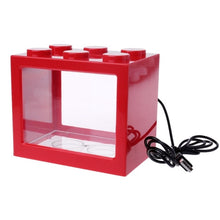 Load image into Gallery viewer, USB Mini Aquarium Fish Tank With LED Lamp Light Betta Fish Fighting Cylinder
