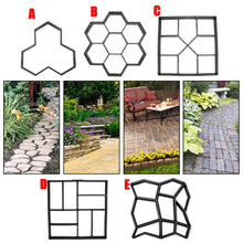 Load image into Gallery viewer, Garden DIY Plastic Path Maker Pavement Model Concrete Stepping Stone Cement Mould Brick molds for cement Mold Garden Decoration