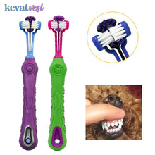 Load image into Gallery viewer, Three Sided Dog Pet Toothbrush Bad Breath Tartar Teeth Care For Cat Dog Tooth Cleaning Brush Soft Pet Finger Toothbrush