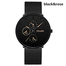 Load image into Gallery viewer, Relogio masculino men's watches male quartz watch male watch casual thin mesh steel male watch water-proof water designer sport watch