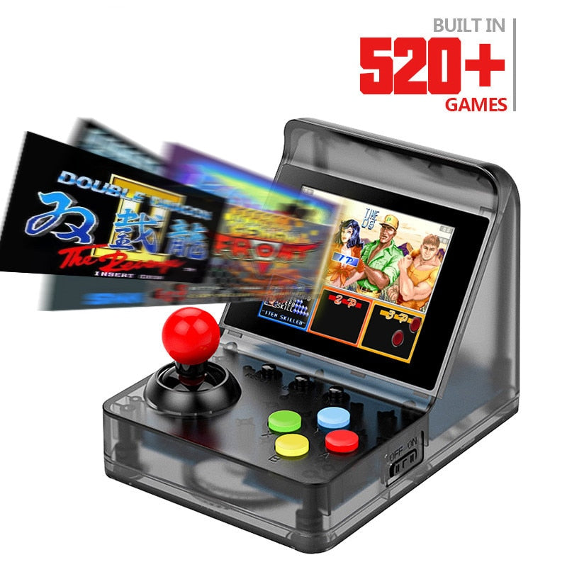 ZOMTOP 32 Bit Retro Arcade Mini Video Game Console 3.0 Inch Built In 520 Games Handheld Game Console Family Kid Gift Toy