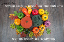 Load image into Gallery viewer, Jane Z Ann Baby photography accessories halloween theme studio shooting ideas hat wrap pumpkin maple leaf props