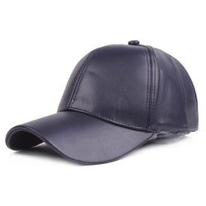Doitbest solid PU Leather Baseball Caps for men women hiphop Spring snapback Cap suit for Teens Lovers autumn Dance Party hat
