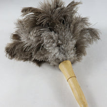 Load image into Gallery viewer, Small Ostrich feather duster car cleaning feather brush handmade  feather duster for house cleaning