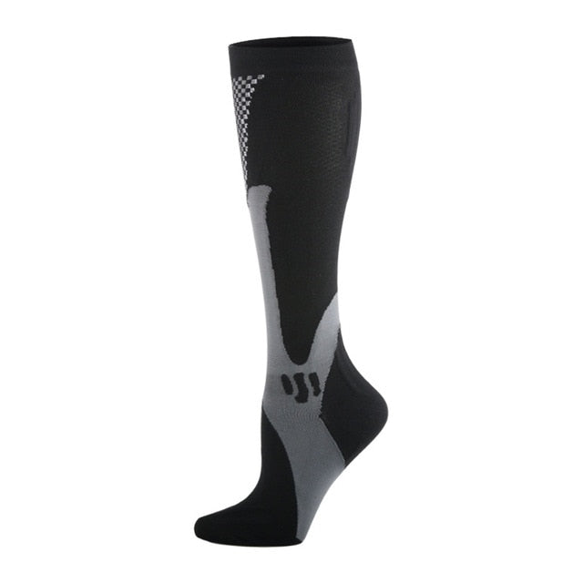 Compression Socks Nylon Medical Nursing Stockings Specializes Outdoor Cycling Fast-drying Breathable Adult Sports Socks