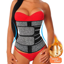 Load image into Gallery viewer, Neoprene Sauna Shaper waist trainer Corset sweat slimming belt for women weight loss Compression trimmer workout Fitness