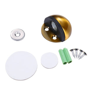 Magnetic Nail-free Floor Mounted Door Stopper Stainless Steel Non Punching Sticker Hidden Door Holders Home Improvement