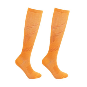 1 Pair Unisex Anti Fatigue Copper Compression Socks Women Men Pain Relief Knee High Stockings