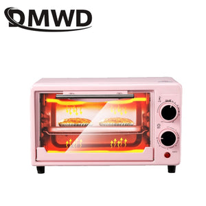 Mini Electric Oven Multi-functional Bread Toaster Pizza Cake Baking Grill Automatic Roasted Chicken Stove Machine 10L
