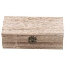 Load image into Gallery viewer, Natural Wood Jewelry Box Desktop Clamshell Storage Hand Decoration Wooden Box Postcard Storage Box