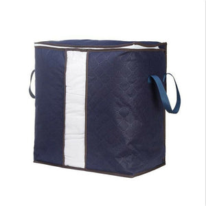 Foldable Storage Bag Clothes Blanket Quilt Closet Sweater Organizer Box Pouch Storage Boxes Solid Polygon Sundries Bins