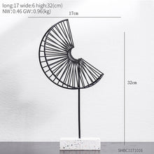 Load image into Gallery viewer, Nordic Creative modern Plant ornament bedroom home decoration accessories for living room Gold Iron Shape crafts Desktop decor