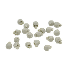 20Pcs 5MM Simulation Skull Model Modern Mini Skull Home Decoration Funny Model Toys Collection Miniatures Model