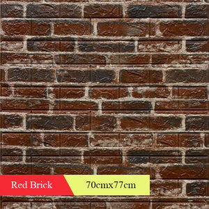 3D Retro Simulated Brick Wall Decor Home Improvement Living room Bedroom Restaurant Wall Coving Wall Stickers