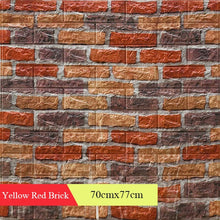 Load image into Gallery viewer, 3D Retro Simulated Brick Wall Decor Home Improvement Living room Bedroom Restaurant Wall Coving Wall Stickers
