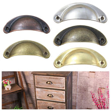 Load image into Gallery viewer, 2Pcs Retro Shell Shaped Cupboard Drawer Cabinet Door Handle Furniture Knobs Home Improvement Door Hardware Suppies